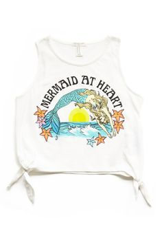 Side-Tie Mermaid Tank (Kids)   FOREVER21 #F21Girls I don't care if it's a kids shirt, I WANT IT.