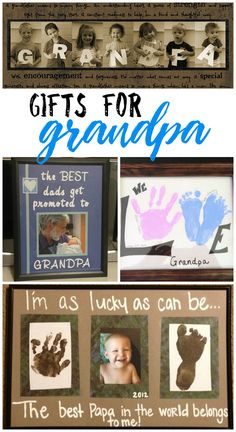 The cutest gifts for grandpa from the kids! Great ideas for father's day and grandparent's day!