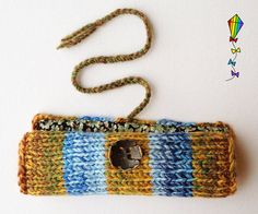 Springtime Pencil Wrap  Blue Yellow and Green Pencil by StripyKite