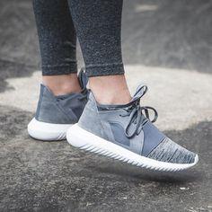 "Adidas Tubular Defiant ""Grey / White"" pinterest: @chaoticfeed ♕"