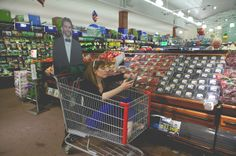 Shopping cart riding with Bradley Cooper