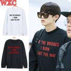 Special offer Kpop Exo Chanyeol Hoodies May The Bridges I Burn Light The Way Letter Print Sweatshirt Unisex Casual Loose Pullover Moletom WXC just only $24.59 - 26.25 with free shipping worldwide #womanhoodiessweatshirts Plese click on picture to see our special price for you