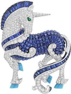 Van Cleef & Arpels L'Arche de Noé Licorne Unicorn Brooch Van Cleef Arpels, Van Cleef And Arpels Jewelry, High Jewelry, Jewelry Art, Vintage Jewelry, Jewelry Design, Jewelry Stores, Fantasy Jewelry, Animal Jewelry
