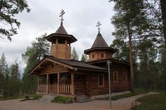 Orthodox church of Nellim Place Of Worship, Finland, Aurora, Cabin, House Styles, Places, Travel, Home Decor, Viajes