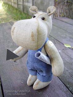 Ручная работа by natulja-best: Бегемот \ Hippo