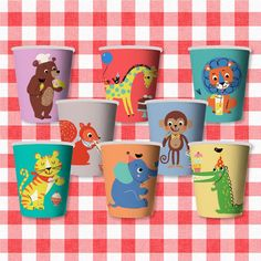 Party Animal Paper Cups