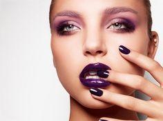 Pink smoky eyes - Purple lips