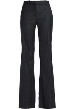 Shop on-sale Wool-blend jacquard flared pants. Browse other discount designer Flared Pants & more luxury fashion pieces at THE OUTNET Flare Pants, Roberto Cavalli, Black Wool, Discount Designer, Bell Bottom Jeans, Wool Blend, Luxury Fashion, Pajama Pants, Shopping