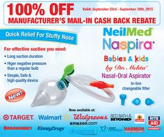 NeilMed Naspira Babies & Kids from $0 after rebate Buy NeilMed® Naspira at your below listed local stores/pharmacies including amazon.com, drugstore.com & myotcstore.com and r…