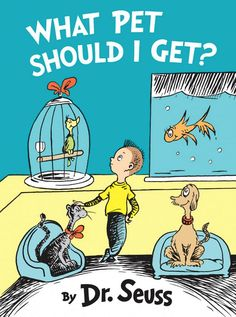 We LOVE the pro-adoption message included in this recently-discovered #DrSeuss book, What Pet Should I Get?  Share it with your students!