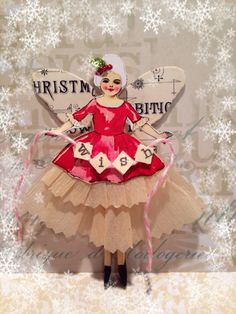 Christmas clothespin ornament doll
