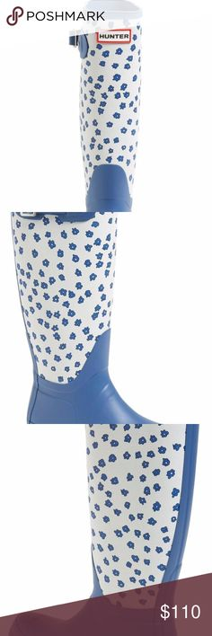 Hunter Festival Floral Blue Boots Spring Hunter Boots Hunter Shoes Winter & Rain Boots