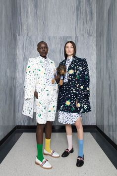 Next time you're headed to your grandma's, why not wear a look she'll really dig? You got your eccentric taste from her, anyway. Pastels, mismatched socks, and a punchy clutch are made for an afternoon of home-cooked food and flipping through baby pictures.Thom Browne #refinery29 http://www.refinery29.com/2016/06/112646/cruise-fashion-2017#slide-4