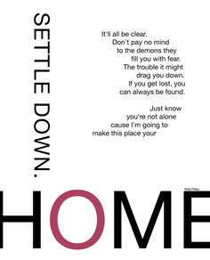 """""""Home"""" by Phillip Phillips currently my favorite song"""