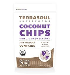 Terrasoul Superfoods Raw Coconut Chips (Organic), 12-ounc...