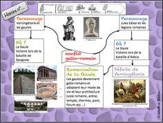 carte mentale conflit gallo romain maîtresse séverine Cycle 3, Google Drive, Teacher, Education, School, Montessori, Miniature, France, Marque Page