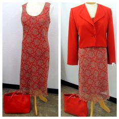 This outfit is perfect for the office and red is the color this fall! Dress 5.99, Jacket 4.99, Bag 3.99