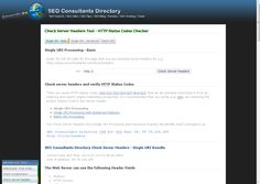 Check Server Headers Tool - HTTP Status Codes Checker