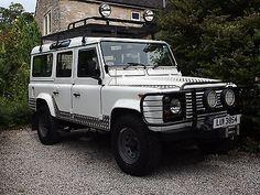 eBay: 1989 Land Rover 110 County Defender 3.5 V8 WHITE Manual 104K