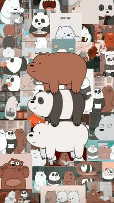 we bare bears Cute Panda Wallpaper, Bear Wallpaper, Kawaii Wallpaper, Cute Wallpaper Backgrounds, Galaxy Wallpaper, Purple Wallpaper, Trendy Wallpaper, Girl Wallpaper, Disney Phone Wallpaper