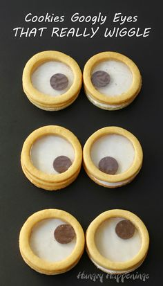 3-D Cookie Googly Eyes that really WIGGLE  | HungryHappenings.com