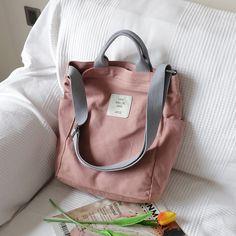 Korean Canvas Shoulder Bag Women Big Crossbody Bags for Women Messenger Canvas Bag – purses and handbags totes Work Purse, Mini Mochila, Promotional Bags, Bag Women, Swag, Canvas Shoulder Bag, Casual Bags, Casual Chic, Shoulder Handbags