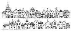 Algo así con edificios emblemáticos de ciudades, que se doblen entre casa y casa,... para kit.