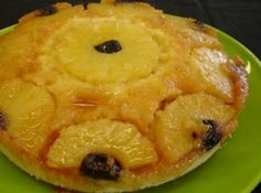 Receita de bolo de abacaxi festivo