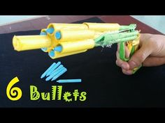 How to make a Paper Gun that Shoots 6 Bullets with Trigger - YouTube