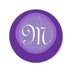 #Violet  #Lavender #Purple #Monogram #Stickers