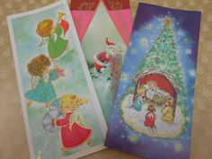 15 Christmas Cards Vintage Mid Century Unused with Envelopes