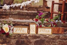 Rustic Vintage Wedding styled by www.KathyPetersonInspired.com  Photography by AmyKK  Mr & Mrs signage designed by Kathy Peterson Inspired