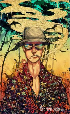 """""""The only way to write honestly about the scene is to be part of it. If there is one quick truism about psychedelic drugs, it is that anyone who tries to write about them without first-expierience is a fool and a fraud.""""  ― Hunter S. Thompson, Hell's Angels  Art: Monique Munoz' Art"""