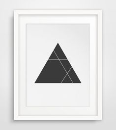 Minimalist Triangle Print Black and White by MelindaWoodDesigns, $5.00- Love most of these! so simple to print out yourself.