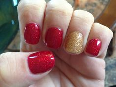 My CND Shellac Christmas Nails...  By: @Christy Clow  #MyNailTechisBetterThanYours