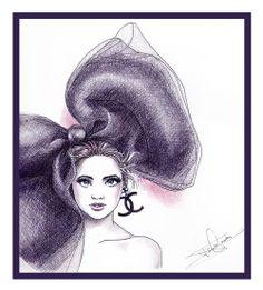 """Chanel"" Fast fashion illustration"