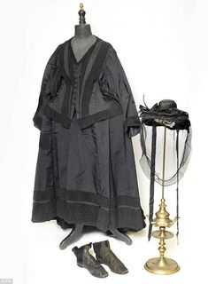 The mourning outfit was worn by Queen Victoria in the late 1800s, long after the death of her husband.