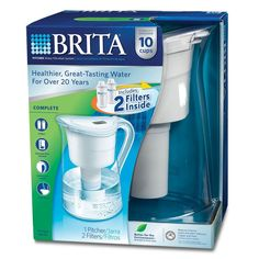 Brita® Vintage Pitcher Carafe Water Filter #Brita