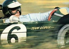 Jim Clark ~ At speed and in control for Team Lotus. Perhaps the greatest of all time, Clark was already a two-time Formula One World Champion when he was killed in an accident at Hockenheim in 7. April, F1 Lotus, Le Mans, Jochen Rindt, Gp F1, Classic Race Cars, F1 Racing, Road Racing, Formula 1 Car