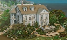 Sims 4 House Plans, Sims 4 House Building, Sims 4 House Design, Casas The Sims 4, Sims 4 Characters, Model House Plan, Rich Home, Sims 4 Build, Tudor House