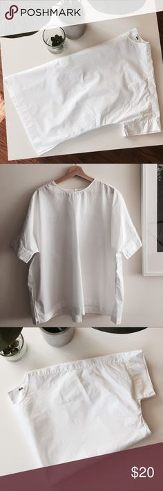 Oversized cotton blouse Oversized cotton blouse, looks beautiful on! No stains, tears or holes. Never been worn!! 100% cotton. If you have any questions, please ask! ❤️ Uniqlo Tops Blouses
