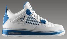 Air Jordan Fusion 4 - military blue