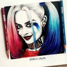"Repost from @art_is_life100 ""Harley Quinn nice to meet ya""Here's my drawing of…"