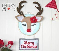 Christmas Door Sign Pattern DIY Christmas Decor Christmas