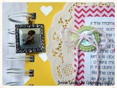 Mini album made with the #epiphanycrafts Shape Studio Tools and Settings.  www.epiphanycrafts.com #scrapbook #punkysprouts #americancrafts