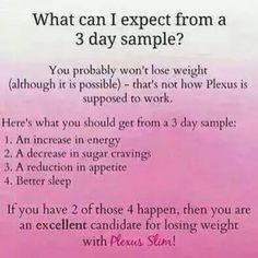 Ask me about how you can get your three day sample TODAY!