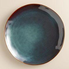 Indigo Organic Glaze Dinner Plates, Set of 2