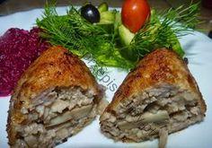 www.przepismamy.pl: Kotlety mielone z kurczaka faszerowane pieczarkami...