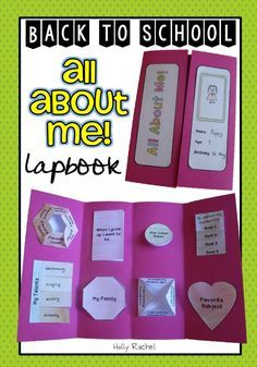 This all about me lapbook project is perfect way to begin the new school year! It is the ideal way to get to know your new students and allow them to set goals for the new year. | by Holly Rachel