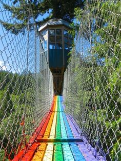 One of the most unique features is their Treehouse Observatory in a nearby Fir tree – accessible via a Rainbow Bridge.
